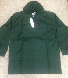 Fila Waterproof Green Jacket Sport Tracksuit Lightweight Hood Retro Size XL