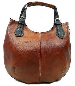 ARTMONO Real leather Shoulder Bag, Handbag. HANDMADE.Brown with black - <span itemprop='availableAtOrFrom'>Warsaw, Polska</span> - ARTMONO Real leather Shoulder Bag, Handbag. HANDMADE.Brown with black - Warsaw, Polska