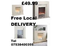 New - Cream Beldray @ Ivory Warmlite Electric fires -ROCHDALE