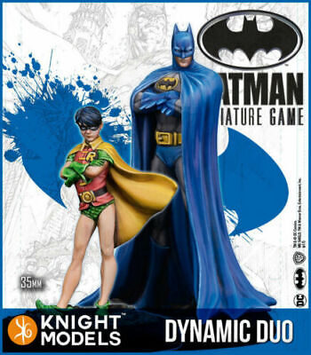 Batman/DC Universe Miniature Game Batman and Robin Dynamic Duo (Resin) NEW