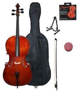 NEW* CRESCENT BEGINNER CELLO KIT - 117684638 - 4/4 NATURAL WOOD COLOR