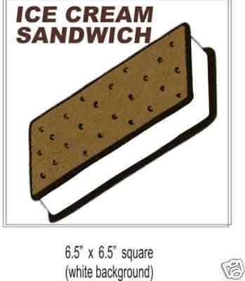 Ice Cream Sandwich 2 Concession Food Truck Decal Sticker 6.5