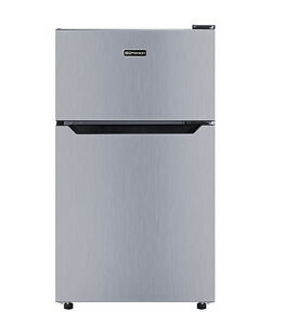 Emerson 3.1 Cu. Ft. Mini Refrigerator and Freezer - Silver