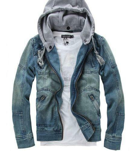 mens jean jacket ebay. Black Bedroom Furniture Sets. Home Design Ideas