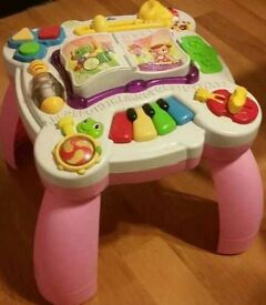 Leapfrog musical table - pink