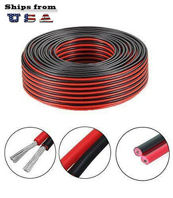 14-2awg Gauce Black And Red Extension Cable Wire Cord For Led Strips Car Cable