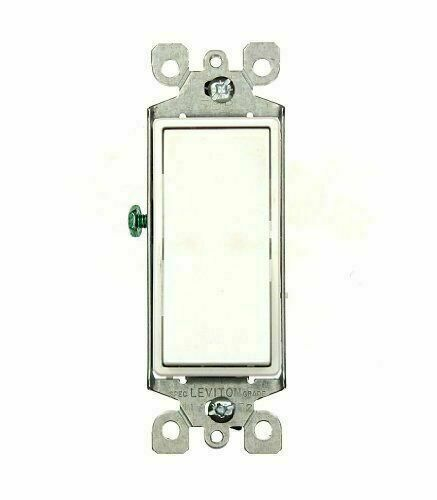 10-Pack WHITE Leviton 5603-2W 15 Amp 120/277V Rocker 3-Way AC Switch Grounding