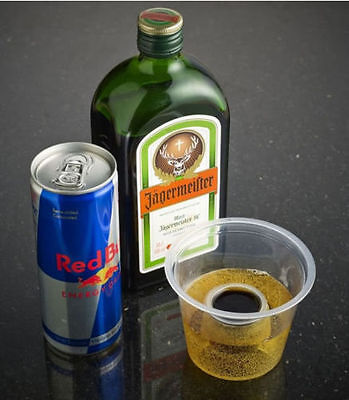 50 x Jager Bomb Glasses Plastic Cups Disposable Shots Glass Double Shot