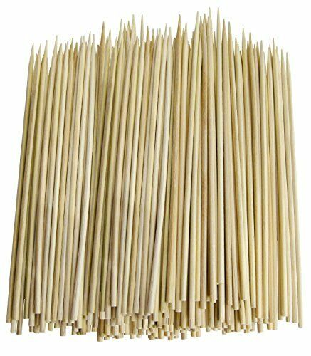 Pack of 300 Thin Bamboo Skewers for BBQ, Skewer, Shish Kabobs
