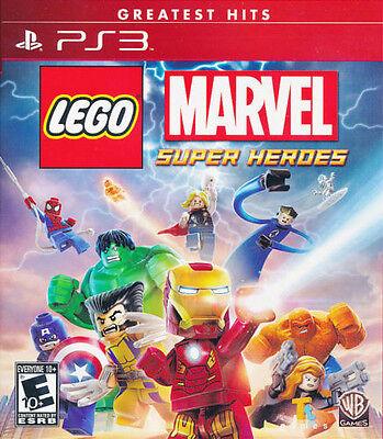 LEGO MARVEL SUPER HEROES PS3 NEW! IRON MAN, CAPTAIN AMERICA AVENGERS SPIDERMAN 0
