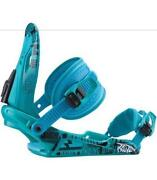 Blue Snowboard Bindings