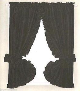 Black Ruffle Curtains