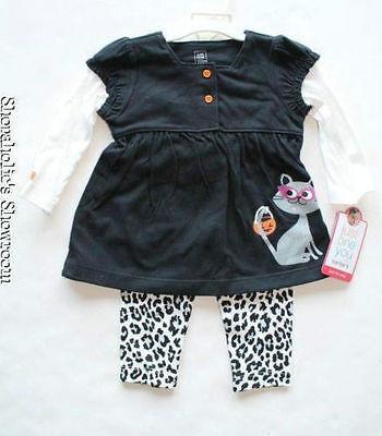 NEW Carter's Halloween Outfit Leopard Cheetah Pants Newborn 6 Months