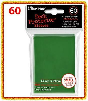 60 Ultra Pro DECK PROTECTOR Card Sleeves Green Yu-Gi-Oh Vanguard Card Protectors