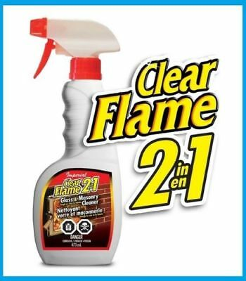 Imperial Clear Flame 2 in 1 Glass Masonry Cleaner soot smoke stain remover 22 - Masonry Stain Remove