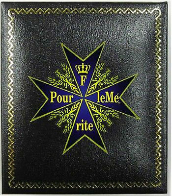 German Prussian Baron Blue Max Pour le Merit Award Medal Presentation Case Badge