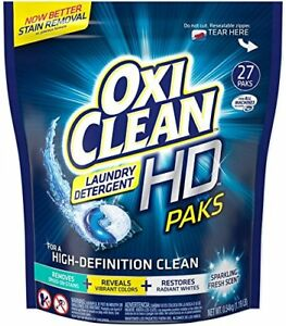 Oxi Clean Hd Packs Laundry Detergent 24ct .