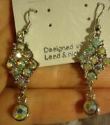 Aurora Borealis Pierced Earrings