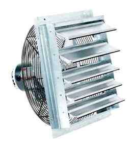 Fantech industrial garage exhaust 10 shutter air fans for 12 inch window exhaust fan