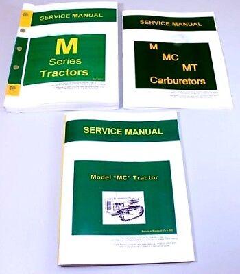 Master Service Manual Set For John Deere Mc Tractor Repair Technical Shop Book