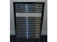 Bathroom Heated Towel Rail Radiator Chrome - 80cm x 50cm x 3cm