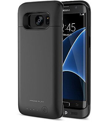 Samsung Galaxy S7 EDGE Press Play Black SURGE Battery Case...