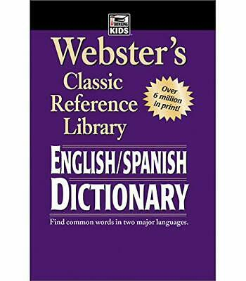 Websters English to Spanish Dictionary - Paperback, for second language learner