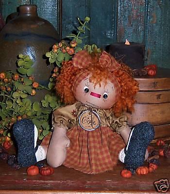 Primitive Raggedy Annie Ann Rag Doll Ornie Paper Pattern #505