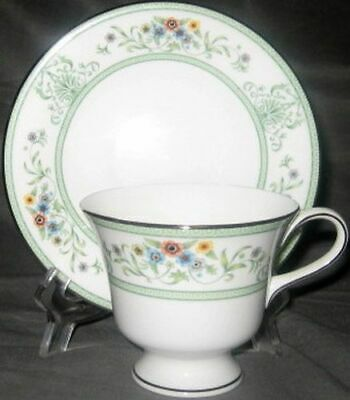 Wedgwood Agincourt Green Cup & Saucer Set (Footed)