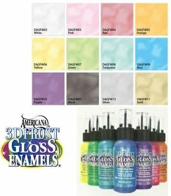 Frosted Glass Paint (DecoArt 3D FROST GLOSS ENAMEL Glass Paint WRITERS - YOUR CHOICE OF)