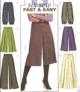 Gaucho Pant Sewing Patterns
