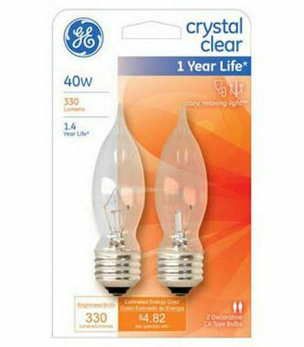 Ge Decorative Bent Tip Light Bulb 40 W 330 Lumens Med Base 4
