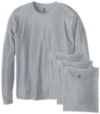 Hanes Men's 4 Pack Long Sleeve Comfortsoft T-Shirt, Deep Roy