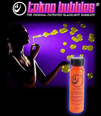 1oz Bottle GOLD Blacklight Reactive Tekno Bubbles - Bubble Bottle