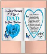 Memorial Cards Birthday Dad