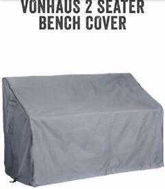 new VonHaus Durable Waterproof 2 Seater Garden Patio Furniture Bench Seat Cover
