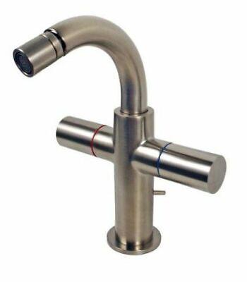 Hansgrohe Axor Uno 2 Handle Brushed Nickel Bidet Faucet 38222821 Axor Uno 2 Handle