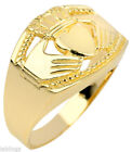 Yellow Gold Claddagh Rings for Men