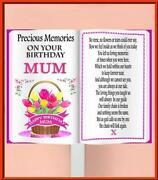 Mum Birthday Memorial Card