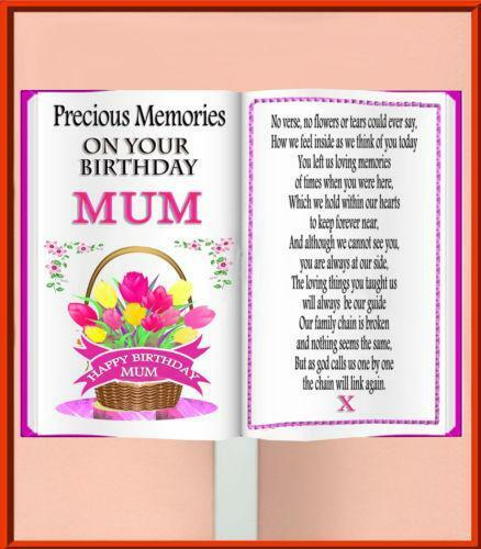Mum Birthday Memorial Card