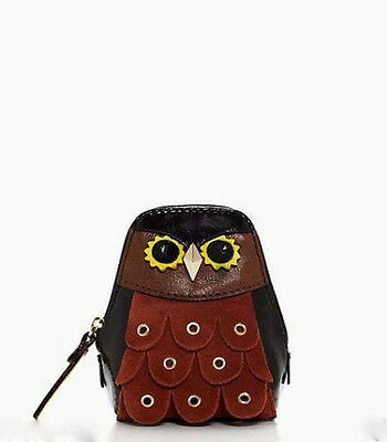 NWT Kate Spade SOLD OUT Maximillian Minerva Owl Patent Leather Suede Coin Purse