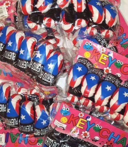 LOT OF 2 Puerto Rico Mini Boxing Key Chain Souvenirs (Rican holder WHOLESALE