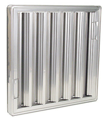 Exhaust Hood Grease Filter Baffle 20x20 Chg Nfpa Approved Stainless 31200