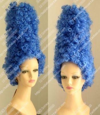 Marge Simpson Pantomime Dame Fancy Dress Ladies Tall Blue Beehive Wig (Marge Simpson Wig)