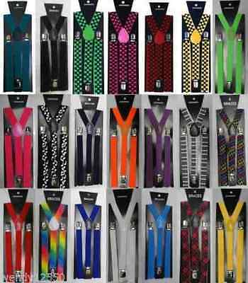 New Girls Boys Womens Mens Adjustable Braces Suspenders Fancy UniSex BNWT