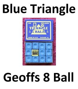 quality-1-x-BOX-OF-BLUE-Triangle-Snooker-or-Pool-Cue-Chalk