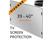 TV Screen Protector for 39 - 40 inches; Vizomax, LCD, LED, Plasma Sreens - protects TV