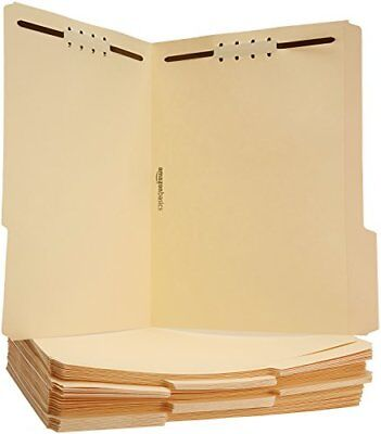 New File Folders With Fasteners Letter Size 50 Pack Free Shipping