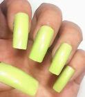 Green Finger Nail Tips