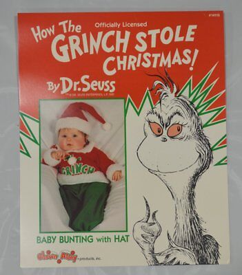 NEW Officially Licensed BABY GRINCH Costume Bunting fits Infant to 12M ](Child Grinch Costume)